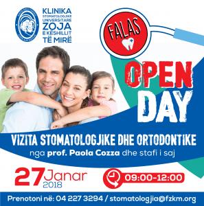 Open Day, Vizita Stomatologjike Falas Dhe Vizita Ortodontike Falas.